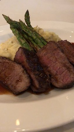 Private Lunch: NY Strip with Mashed Potatoes and Asparagus