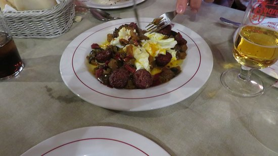 Restaurante La Resolana: REVUELTO DE HUEVOS CON CHORIZO