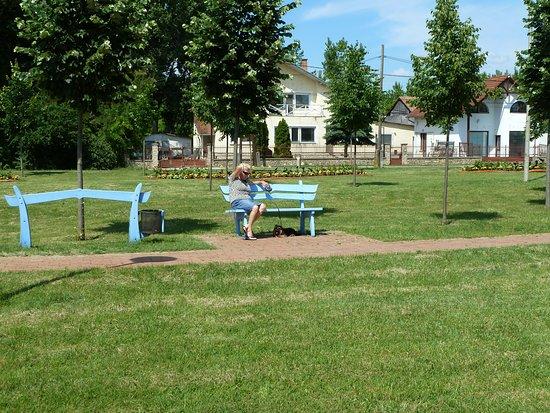 Hegyko, Ungarn: Ein kleiner Park, gleich außerhalb vom Bad.