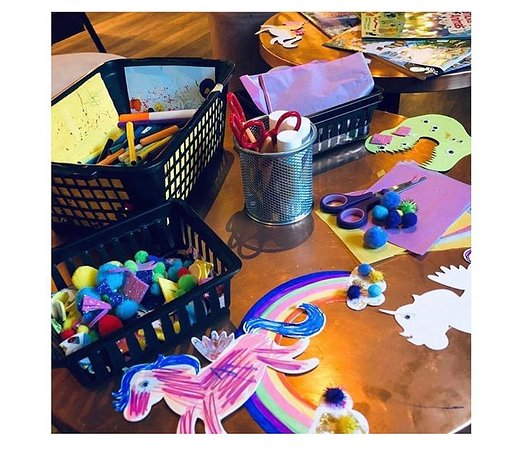 Unicorns, rainbows and dinosaurs at Loft Sunday lunch.
