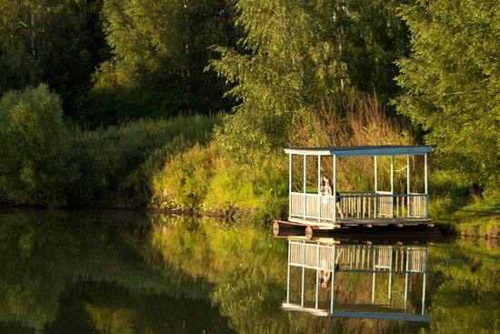 Oryol Oblast, Rosja: Плавучая беседка, возможна сдача отдельно от дома