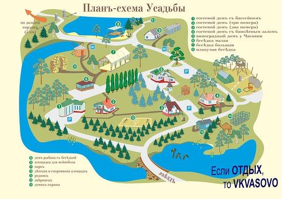 Oryol Oblast, Rosja: Расположение домов на территории усадьбы
