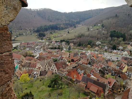 View of Kaysersberg from the top of the tower