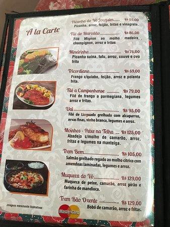 Bar e Restaurante Rancho Vo Joaquim: Menu - dishes @ 2018-12 (by heinerklingle)