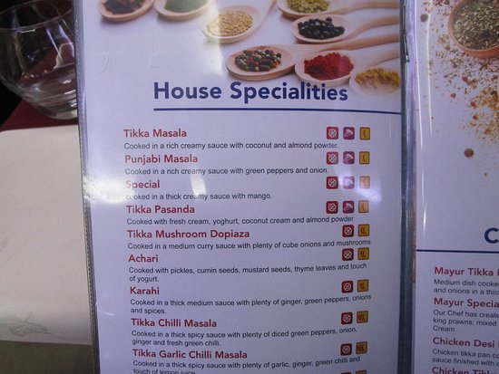 New menu.