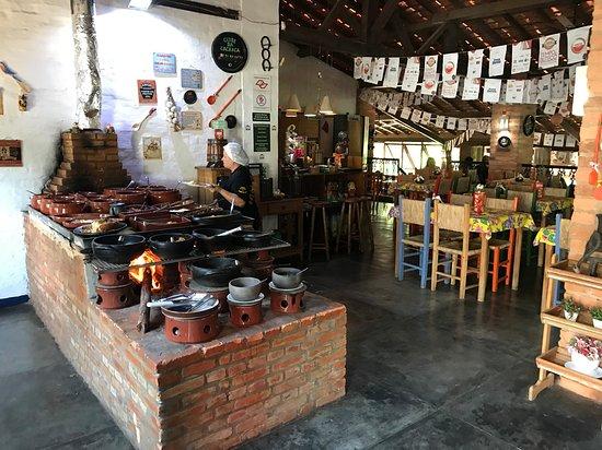 Bar e Restaurante Rancho Vo Joaquim: The hot dishes buffet (by heinerklingle)