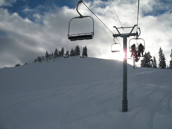 Lakeview, Oregón: Taking the chair lift to the top