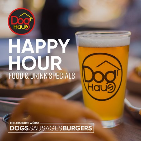 HAPPY HOUR – food and drink specials