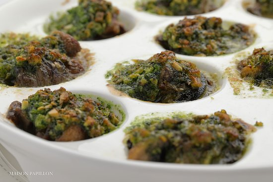 Herbal roasted escargot
