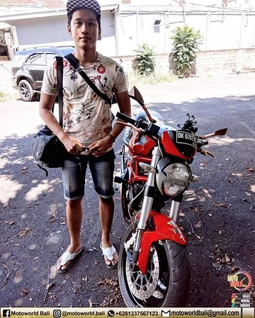 Thanks bro for renting our bike @motoworldbali. Enjoy your ride and safety riding.