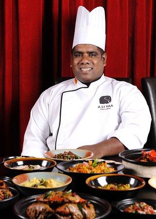 Aliyaa Island Restaurant & Bar: Chef Siva, Executive Chef at Aliyaa