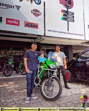 Thanks bro for renting our bike @motoworldbali