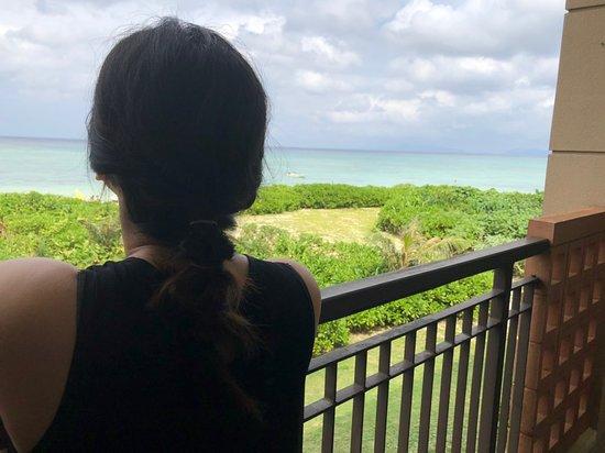 Club Med Kabira - Ishigaki: 從陽台可以俯瞰整個海灘