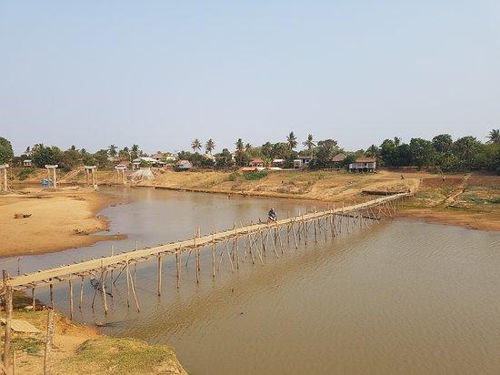 Bamboo bridge crossing