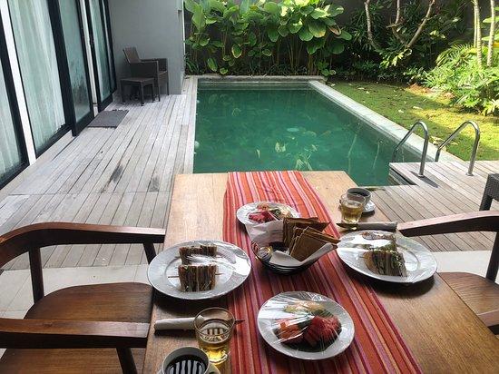 Breakfast Vegan Style In The Villa Picture Of Abia Villas Legian Tripadvisor