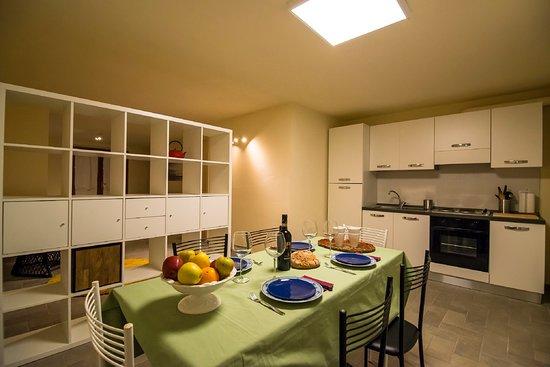Cucina e sala da pranzo                Appartamento Stella