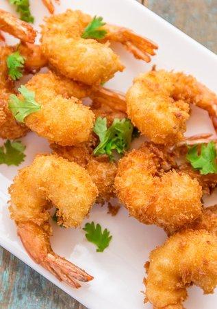 Peking Tokyo: Deep fried coriander & ginger prawns