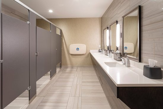 Holiday Inn Marquette: We increased the size of our lobby restrooms, and added changing stations for men & women