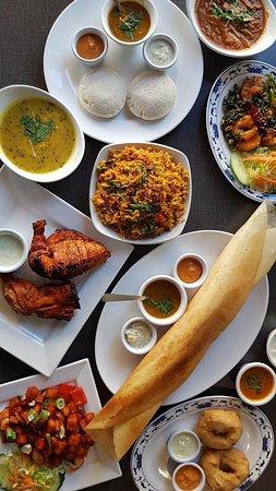 Favorite dishes of Navaratna South Indian Restaurant.