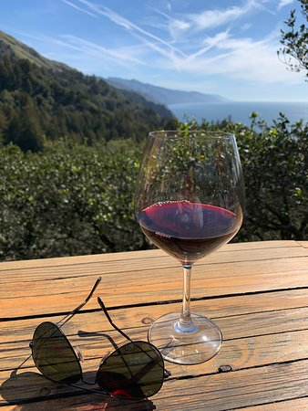 Nepenthe: Local Wine and views.