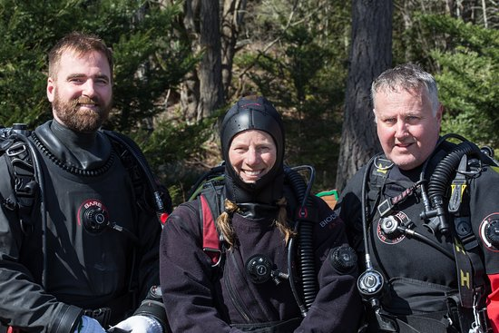 Pacific Pro Dive and Marine Adventures: Staff photo Eric, Robyn and Scot.