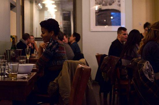 Diners at Falnsai Vietnamese Kitchen, Bushwick, Brooklyn, New York. Photo credit: Salty Dialogue