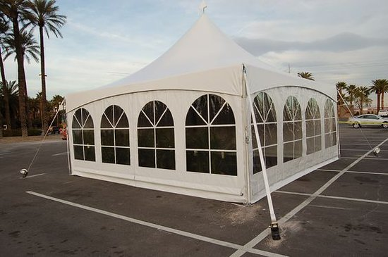 Tinley Park, IL : Our tents are flexible and can be placed on asphalt, grass, concrete and other tight fit areas. Water barrels are available to make sure your tent is nice and secure