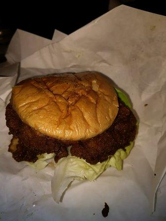 Een eenvoudig soort kipburger