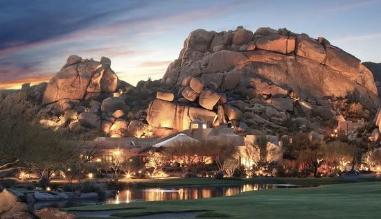 Night time at The Boulders Resort