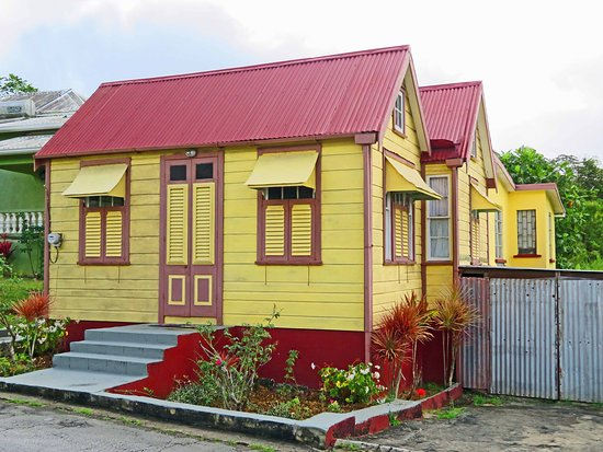 "Barbados Coastal Sightseeing Private Tour: Typical ""chattel"" house designed to be moved for plantation workers.  Notice the roof lines designed for hurricanes."