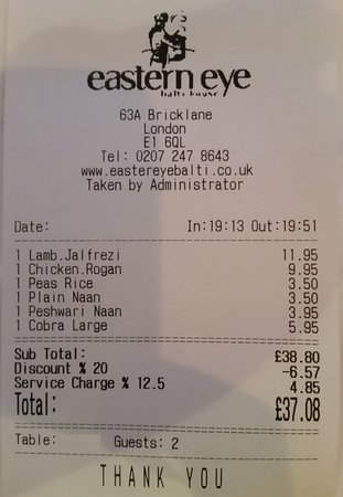 Watch the service charge...