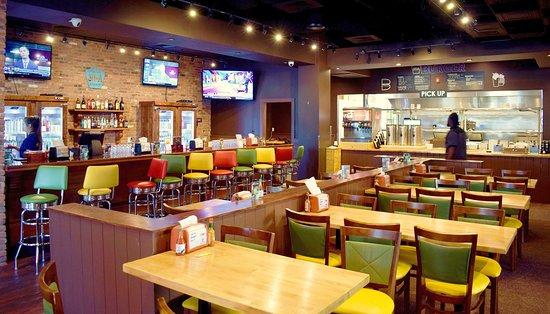 30A Burger interior main dining room