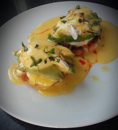 Avocado eggs benedict on the Saturday Brunch menu