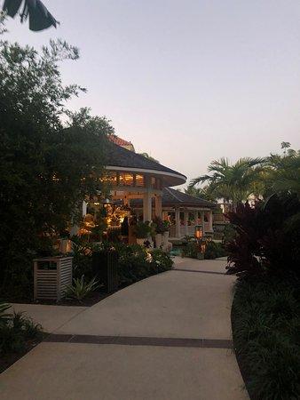 Outside of the restaurant