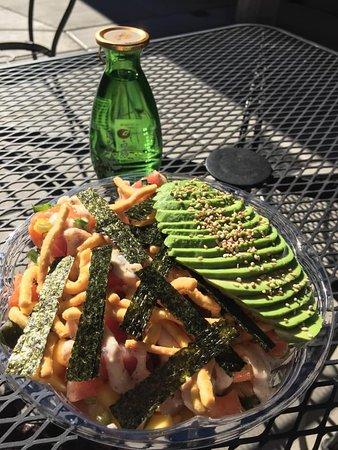 Poke + Sake + Outdoor seating