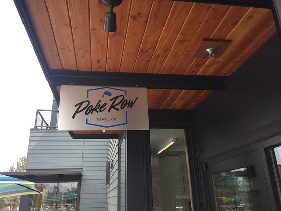 Poke Row outdoor sign - Located at Fremont Row in NWX Bend