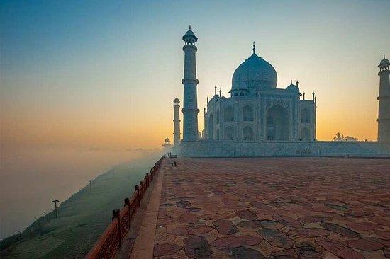 Am selben Tag Taj Mahal y Agra Fort...