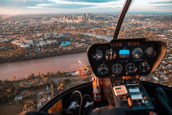 Brisbane CBD from 1000ft
