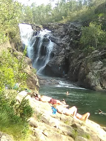 Relaxing at Big Rock Falls