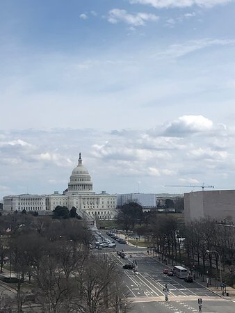 View from the terrace in the Capitol Hill direction