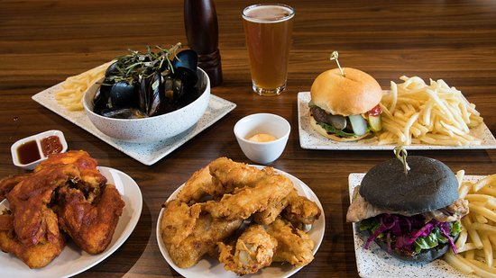 Burgers Wings and Mussels
