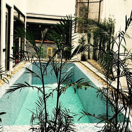 Hanoi Buffalo Hostel: Outdoor pool