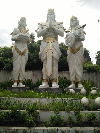 statues near the entrance