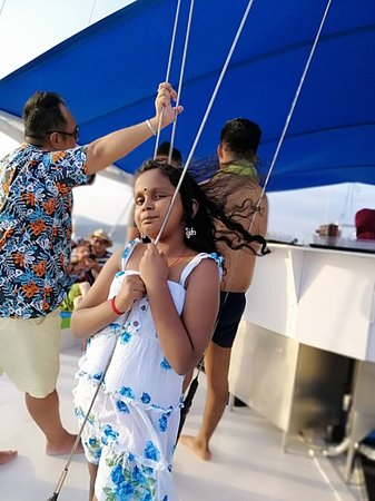 Sunset Yacht Cruise: My lovely elder daughter