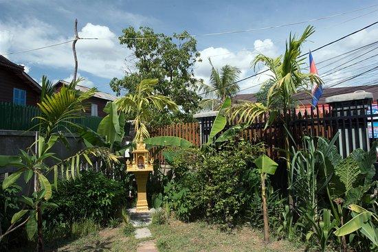 Our spirit house in the garden.