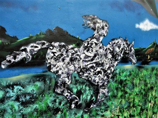 """Fresque """"Les cavaliers"""""""
