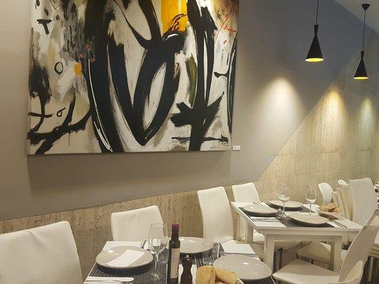 Arte abstracto en las paredes