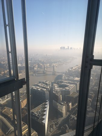 Shangri-La Hotel, At The Shard, London: View from the breakfast-table.