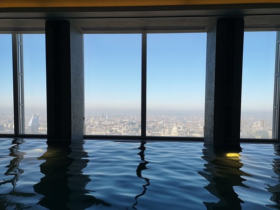 Shangri-La Hotel, At The Shard, London: View from the pool.
