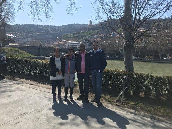 Tiflis, Gürcistan: Me and my sweet guests